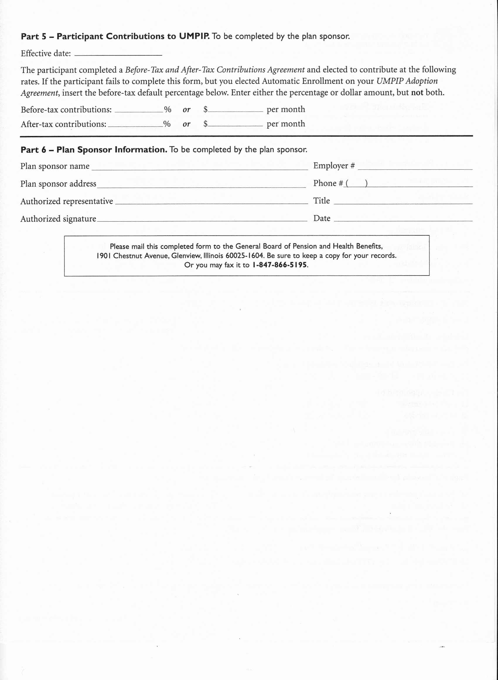 Investment Election Form